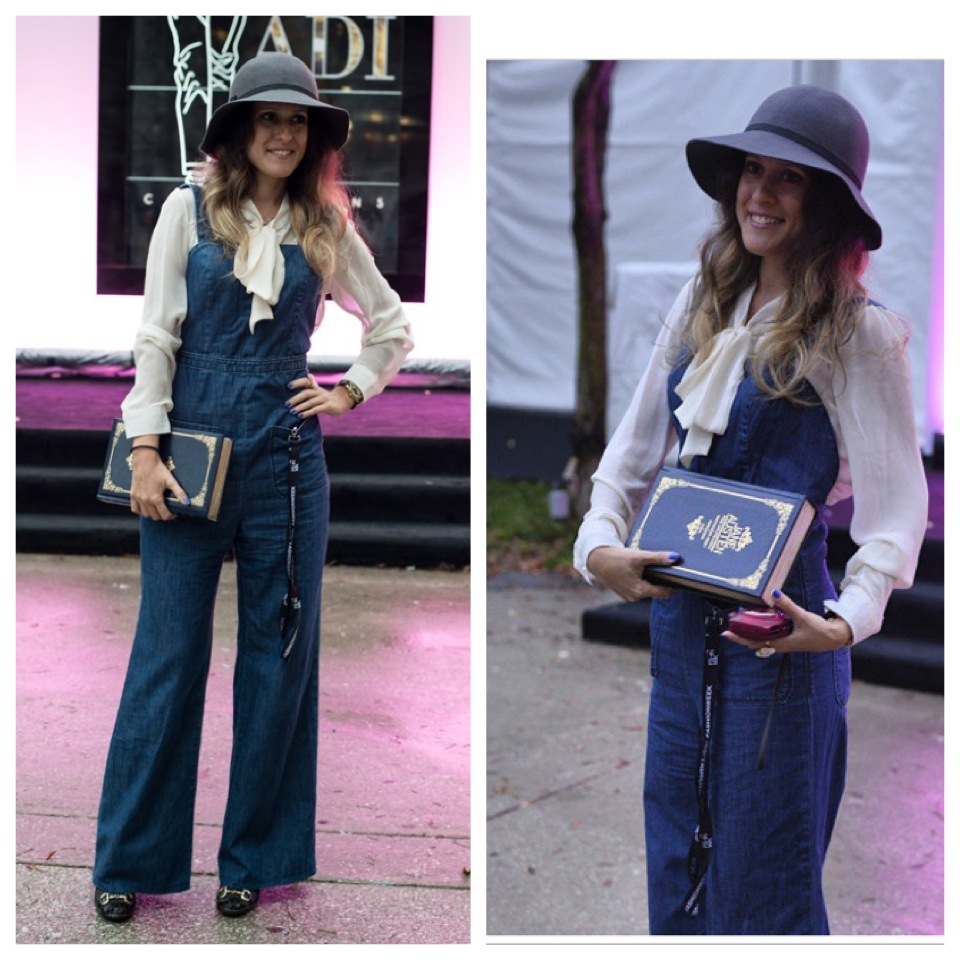 70's style book clutch toronto fashion week street style