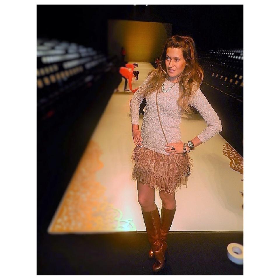 toronto fashion week fur skirt toronto fashion week