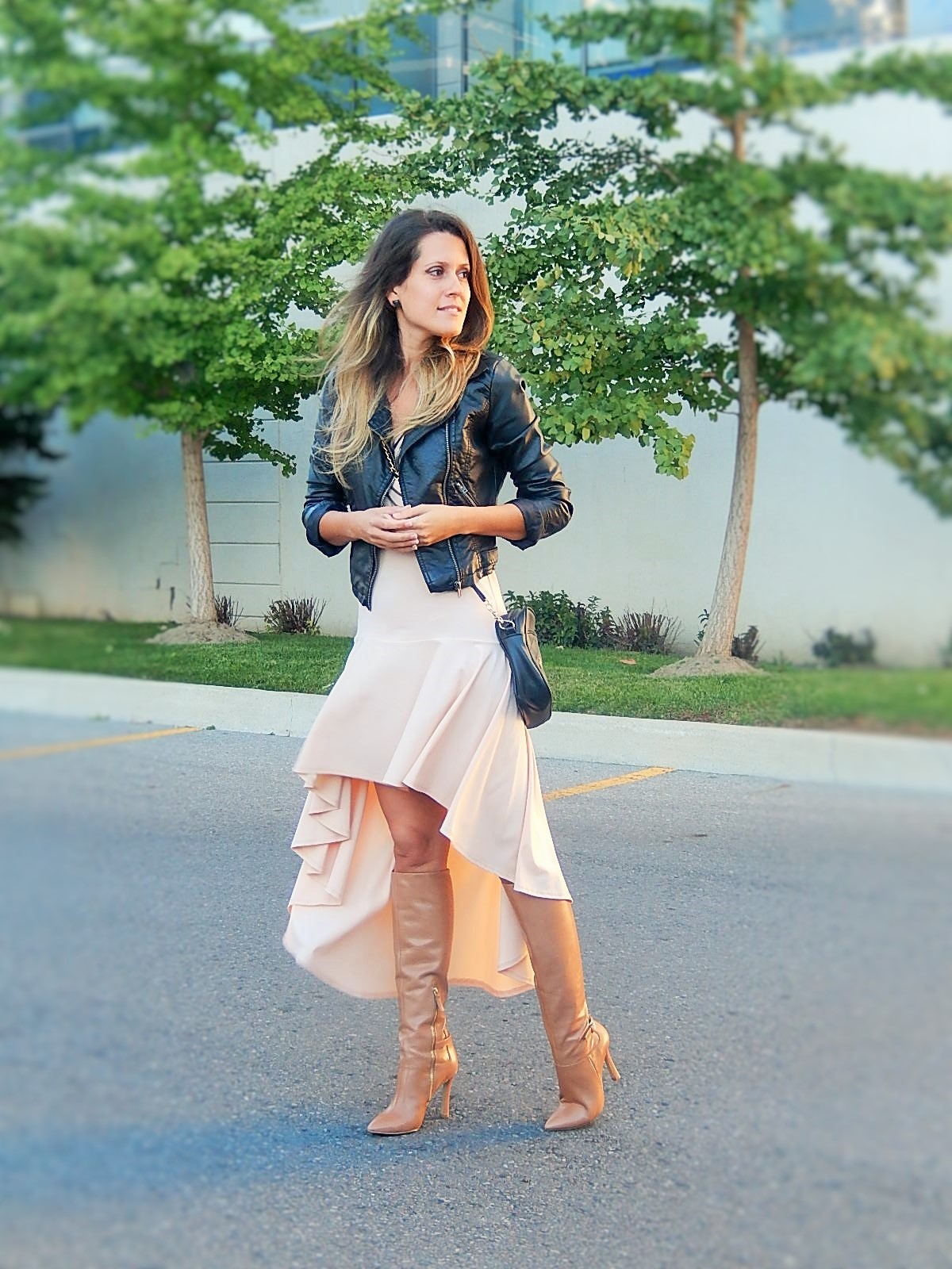 leather jacket outfit idea