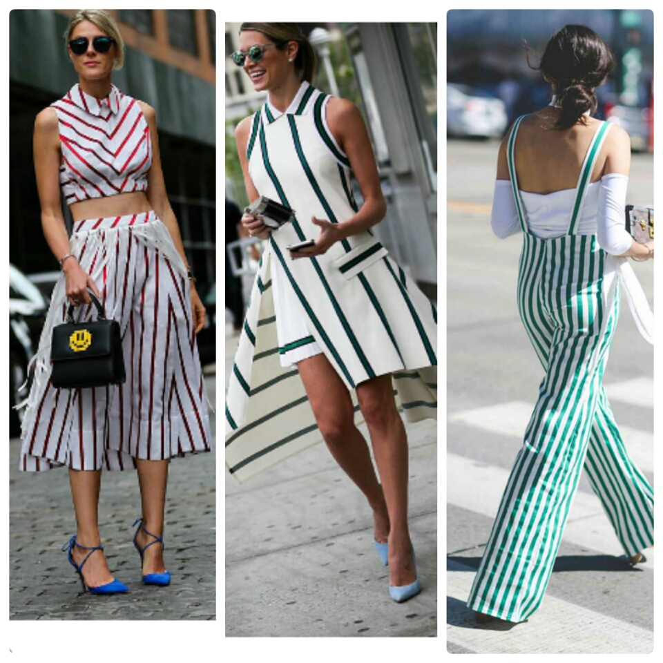 stripes color street style trends