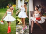 Wedding dress hunter converse louboutin