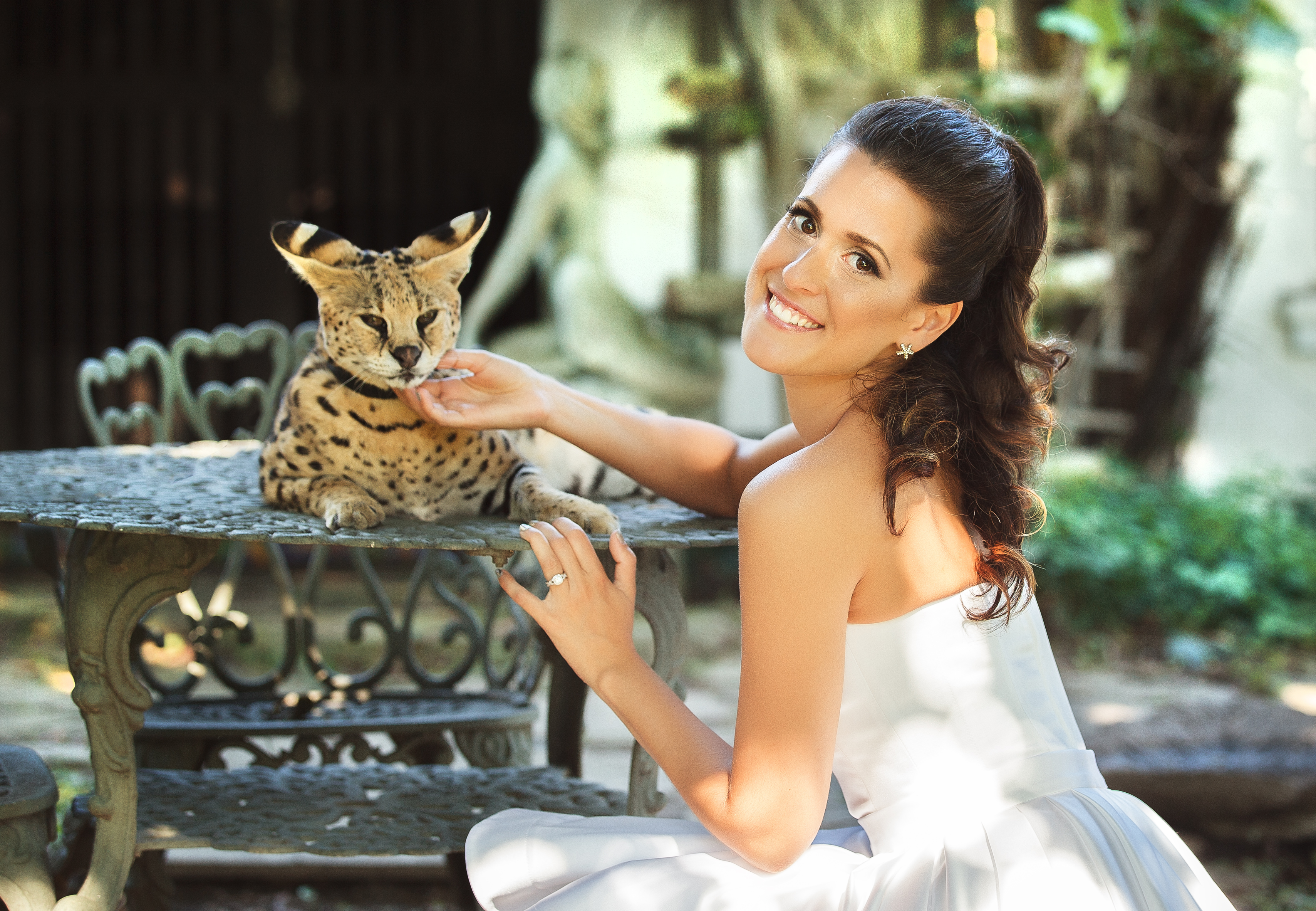 wedding photo shoot shoot ideas with animals zoo