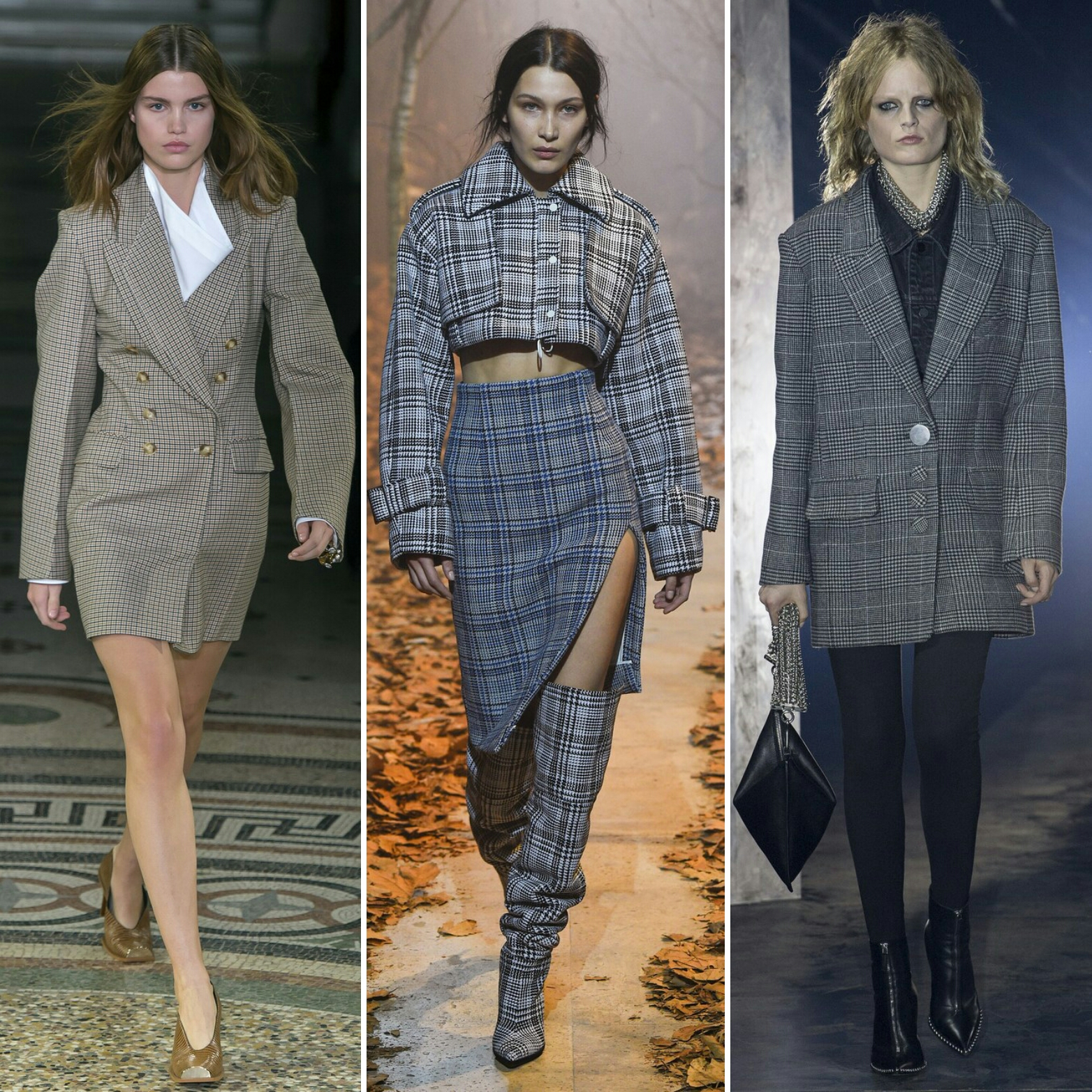 Plaid check blazers and coats